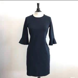 Navy Blue Belle Sleeve Dress